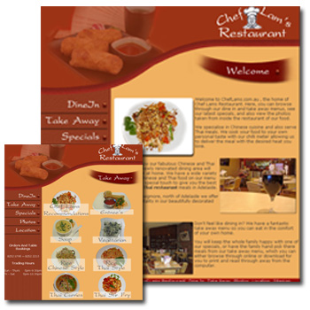 Chef Lams Web site Design