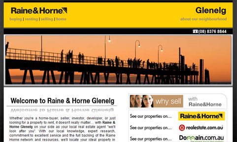 Web Design for Raine And Horne Glenelg Launched