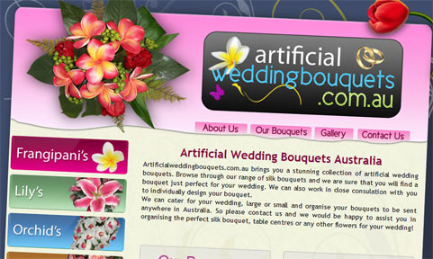 Adelaide Web Designs Launches Artificial Wedding Bouquets